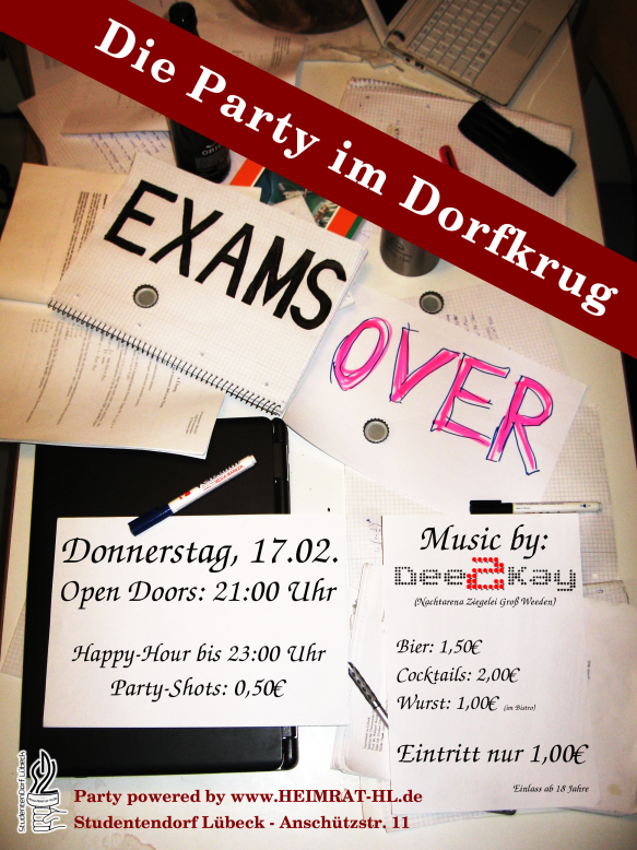 Exams Over Party - Studentendorf LübeckStudentendorf Lübeck  Exams Over Part...