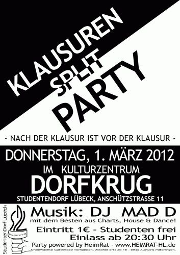 Klausuren-Split-Party